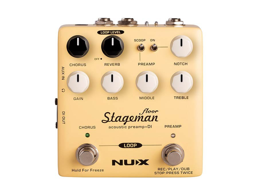 NUX - NAP-5 - Verdugo series acoustic preamp and DI Stageman Floor